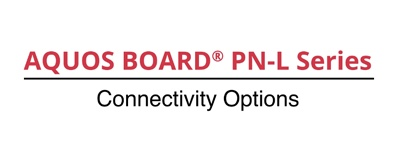 Connectivity Option for the AQUOS BOARD® PN-L Series
