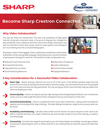 Become Sharp Crestron Connected