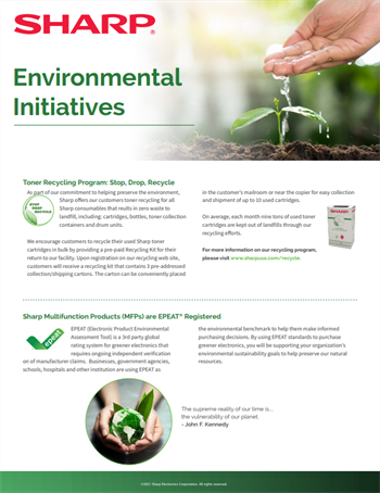 Sharp Environmental Initiatives