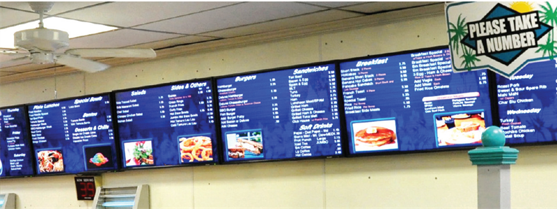 Dynamic and Eye-Catching Digital Menus Help Supermarket Improve Communication with Customers