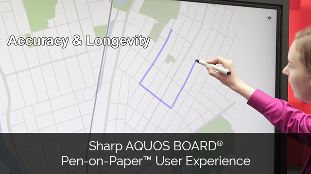 Sharp AQUOS BOARD Pen-on-Paper User Experience