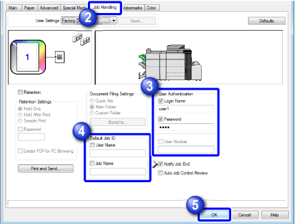 PRINTING WHEN THE USER AUTHENTICATION FUNCTION IS ENABLED