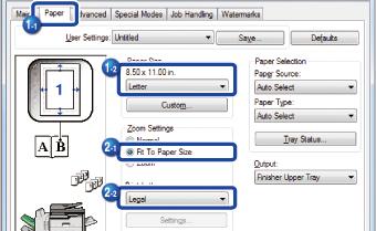 FITTING THE PRINT IMAGE TO THE PAPER   MX-M365N/MX-M465N/MX-M565N